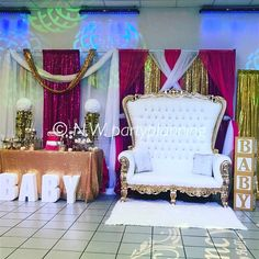 Princess theme baby shower mom & dad area #thronechairs #chairs #babyblocks #hisandhers #eventplanner #event #regency #crown #princess #royal #royalprincessbabyshower #venue #babyshower #gold venue #babyblocks #event #gold #thronechairs #royalprincessbabyshower #crown #eventplanner #princess #hisandhers #royal #chairs #regency #babyshower #eventprofs #meetingprofs #eventplanner #eventtech