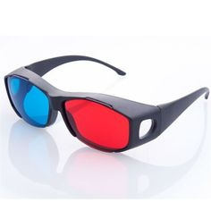 Anewkodi Black Frame Red Blue Glasses For Dimensional Anaglyph Movie Game Dvd Universal Vision Glasses, 3d Glasses, Bleu Cyan, 3d Camera, Virtual Reality Glasses, Facebook Features, Trends, Cool Things To Buy, Plastic