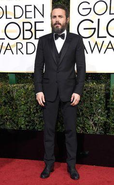 Casey Affleck from 2017 Golden Globes Red Carpet Arrivals