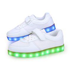 Luz Zapatos LED Y Uno Velcro Bebe Bajos