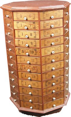 I ran across this today and now it's all I can think about.  96 drawers.  An organizers dream.