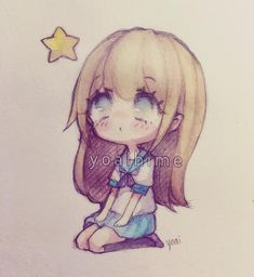 Watching stars.....jk there was actually a thunderstorm here .___. Trying new things mixing my old chibi style with new one QWQ #chibi #doodle #sketch #sakurakoi #watercolor
