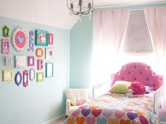 Mix bright colors for a kid's bedroom | 32 Creative Gallery Wall Ideas To Transform Any Room