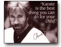 "kids martial arts quotes | Karate is the best thing you can do for your child."" -Chuck Norris"