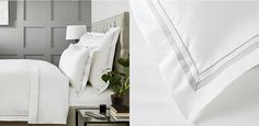 Cavendish Bed Linen | Egyptian Cotton Bedding Sets | The White Company Cotton Bedding Sets, Bed Linen Sets, Linen Bedding, Percale Sheets, Goose Down Pillows, Egyptian Cotton Bedding, Striped Bedding, Comfy Bedroom