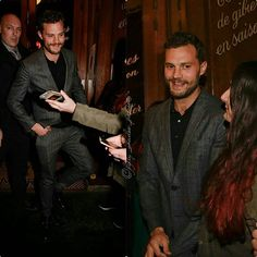 "February, 5th: #New pics of Jamie leaving the restaurant 'La Fontaine de Mars""in Paris! ❤ . #JamieDornan #TeamDornan #christiangrey #FiftyShadesFreed"