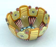 Decorative Polymer Clay Bowl by emilysquireslevine on Etsy,