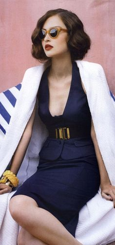"""Cry Me A Riviera"" - Valerija Erokhina by Troyt Coburn for Vogue Australia:"