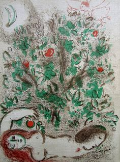 #MarcChagall | The Garden of Eden | Eames Fine Art http://www.printed-editions.com/artwork/marc-chagall-the-garden-of-eden-23627
