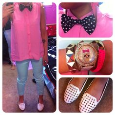 Pastels and a bowtie.