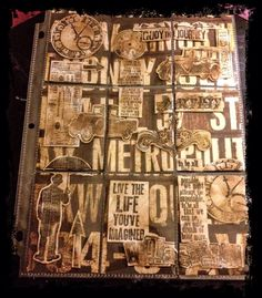 Tim Holtz pocket letter by Tammy Michelle Lee