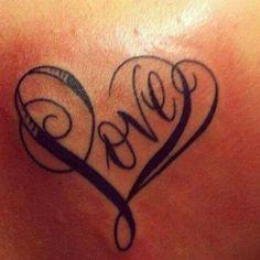 Fancy love heart tattoo