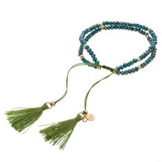 LC Lauren Conrad Birth Month Tasseled Slipknot Bracelet, Women's, Green Oth