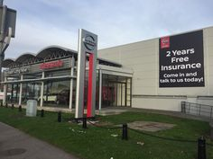 Large outdoor advertising for Nissan!