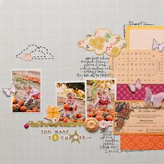 Maggie Holmes- love the stitched and printed paper clouds