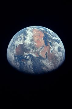 Earth photographed from Apollo 11