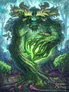 Quiescent Greenman Advanced Legend of the Cryptids by MIKECORRIERO.deviantart.com on @deviantART