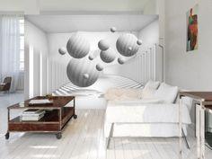 Papier peint Balls in White