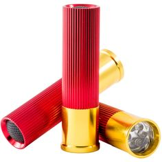 J.B. Nifty Shotgun Shell Flashlights ($9.99) ❤ liked on Polyvore featuring men's fashion, men's accessories, red and mens travel accessories