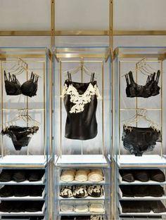 La Perla - Milan - Retail Design - Boutique - Loja - Lingerie - risque lingerie, lingerie for, stores that sell lingerie *ad Boutique Interior, Boutique Design, Milan Boutique, My Boutique, Boutique Ideas, Lingerie Store Design, Boutique Lingerie, Lingerie Stores, Underwear Store
