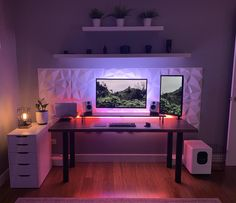 Gamer Setup, Gaming Room Setup, Pc Setup, Desk Setup, Computer Gaming Room, Computer Setup, Build A Pc, Bedroom Setup, Home Office Setup