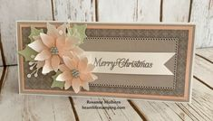 Pretty Poinsettia Petals Slimline - Pals Blog Hop - Heartfelt Stamping