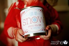 Can of Snow - How to make and free printables to complete the job!
