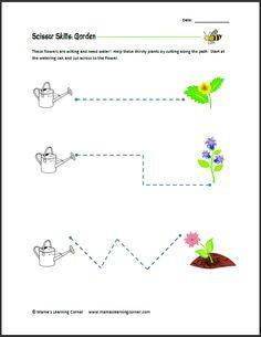 Scissor Skills: Garden | Mamas Learning Corner