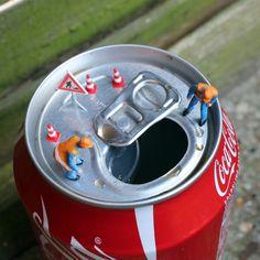 Little people project - cool miniature art - chicquero - coke can