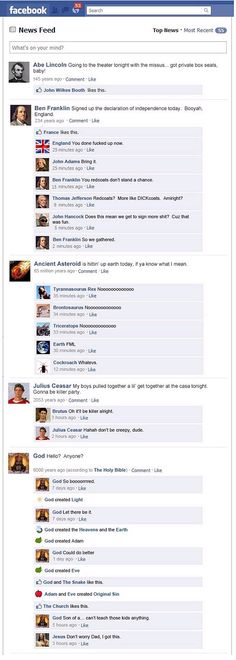 HAHA! Facebook history lesson! Way better than class!