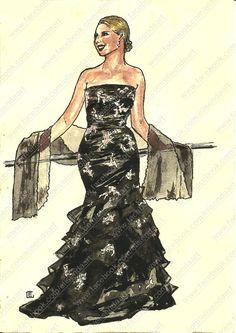 Fashion illustration by Elisenda.