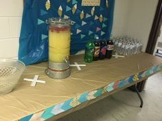 Refreshment table with tribal background Young Wild Free, Wild And Free, Tribal Background, 10th Birthday Parties, Arrows, Aztec, Feather, Fox, Party