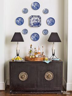 DIY Wall Decor | Small plate gallery wall