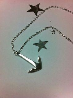 Handmade silver anchor.