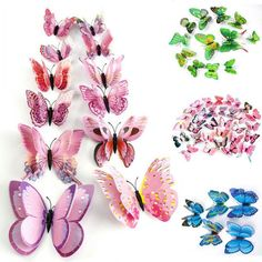 SPECIAL 5 packs of 10 Beautiful Blue Glitter Chipboard Butterfly Stickers