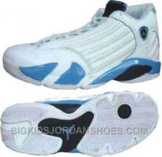 online store c9c51 f53ba Air Jordan Nike 14 XIV Retro Baskets Blanc Bleu 2016 Discount