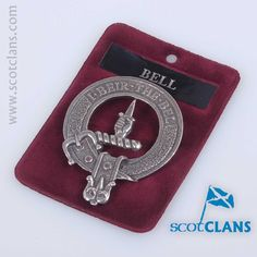 Pewter Badge with Bell Clan Crest from ScotClans