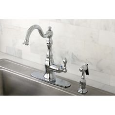 American Classic Chrome Single-handle Kitchen Faucet | Overstock.com