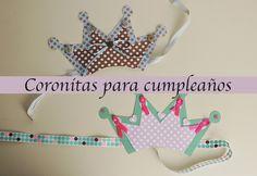Coronitas para cumpleaños infantiles - http://www.manualidadeson.com/coronitas-cumpleanos-infantiles.html