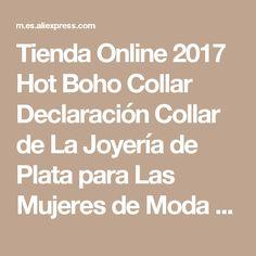 Tienda Online 2017 Hot Boho Collar Declaración Collar de La Joyería de Plata para Las Mujeres de Moda de Estilo Étnico de La Vendimia de Bohemia Del Cuello Del Grano | Aliexpress móvil
