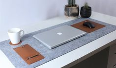 You don't need to worry about scratches on your device anymore. Its well-thought of details will make you more content while you work on your desk. NOTUS provides a perfect surface to put your laptop on, a smooth leather patch for your mouse and a snug pocket for your favourite pens and pencils. Even a special coaster for your mug to rest on.