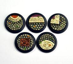 Small Ornate Cobblestone Inserts x 5 - Rain City Hobbies