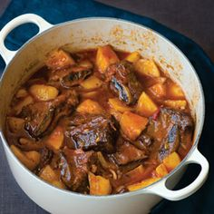 Paprika Short-rib Beef Stew Recipe | MyRecipes.com - Looking for a beef stew that stands out from the crowd? Try this spicy recipe featuring bone-in beef short ribs instead of traditional beef stew meat. Thick-cut bacon, beer, and chopped potatoes make this stew a real crowd-pleaser. Serve with buttered, crusty bread and a green salad.