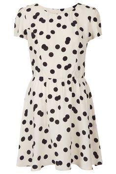 topshop double spot flippy dress