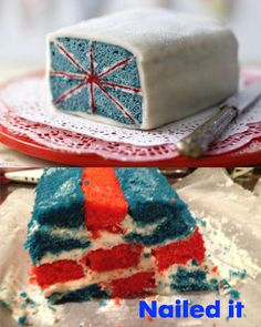 yep this is what mine would look like too Cooking Fails, Union Jack, Butter Dish, Vanilla Cake, Epic Fail, Dishes, Desserts, Food, Pension Fund