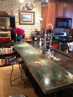 Copper Bar Tops - Kitchen, Bath & Bar - Circle City Copperworks