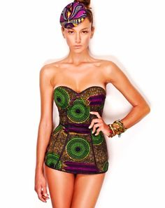 African Prints in Fashion: Sexy Prints: Beachwear by Stella Jean