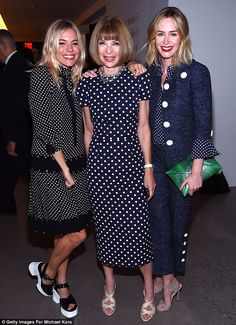 In Vogue: Anna Wintour joined Sienna and Emily as Michael Kors unveiled their latest line