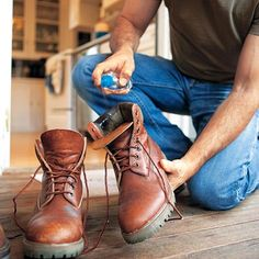 Boots smelling ripe? Spritz the insides with diluted vodka; let dry. No more odor! | Photo: Don Penny/Time Inc. Digital Studio | thisoldhouse.com