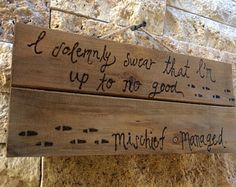 Harry Potter Wall Hanging - I solemnly swear that I'm up to no good